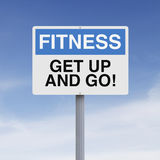 Get Up And Go. A conceptual sign on fitness Royalty Free Stock Image