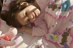 Get-up of missy in morning. Light Royalty Free Stock Photos