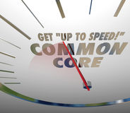Get Up to Speed on Common Core Speedometer Learning Standards Royalty Free Stock Photos