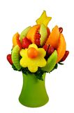 Get Well Fruit Basket. Get well basket of fresh fruits Royalty Free Stock Photography