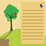 Get well note with birds and tree Stock Image