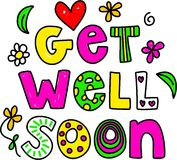 Get well soon vector illustration