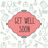 Get well soon card Stock Photography