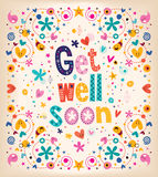 Get well soon card Stock Image