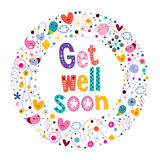 Get well soon card. Greeting card vector illustration