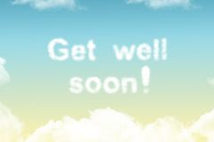 Get well soon - cloud word Stock Image