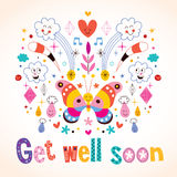 Get well soon greeting card Stock Photo