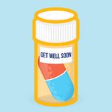 Get well soon healthy vector card Stock Photography