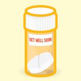 Get well soon healthy vector card Royalty Free Stock Photos