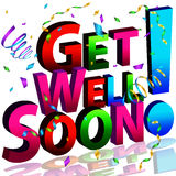 Get Well Soon Message. An image of a get well soon message Vector Illustration