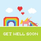 Get well soon unicorn Royalty Free Stock Images