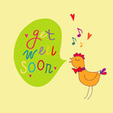 Get well soon vector illustration Royalty Free Stock Photo