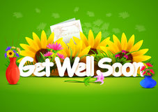 Get well soon wallpaper background Stock Images