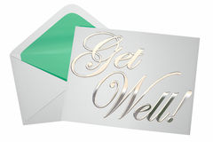 Get Well Soon Wishes Card Note Letter Envelope Stock Image