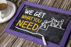 We get what you need concept royalty free stock photo