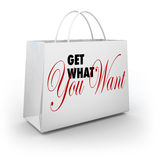 Get What You Want Shopping Bag Shopping Store Stock Photo