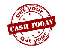 Get your cash today Royalty Free Stock Photo