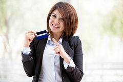 Get your credit card with us Stock Images
