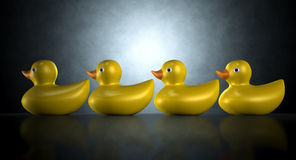 Get Your Ducks In A Row Stock Image