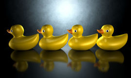 Get Your Ducks In A Row Royalty Free Stock Images