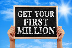 Get Your First Million Royalty Free Stock Photos