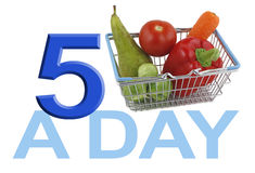 Get your FIVE A DAY Royalty Free Stock Image