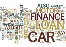 Get Your Motor Car Finance The Easy Way Word Cloud Concept. Get Your Motor Car Finance The Easy Way Text Background Word Cloud Concept Royalty Free Stock Photography