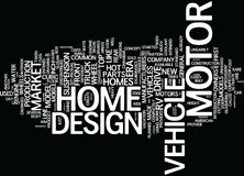 Get Your Own Collectible Motor Home Word Cloud Concept Royalty Free Stock Image