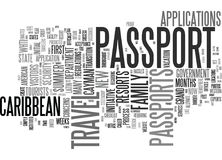 Get Your Passport Now For Summer Travel To The Caribbean Word Cloud Concept Royalty Free Stock Image
