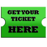 Get your ticket here Stock Photo