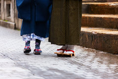 Geta traditional Japanese footwear Royalty Free Stock Photography
