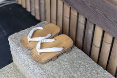 Geta or traditional Japanese footwear Stock Photo