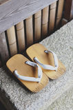 Geta or traditional Japanese footwear Stock Photography