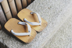 Geta or traditional Japanese footwear Royalty Free Stock Photo