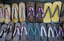 Geta traditioneel Japans houten schoeisel royalty-vrije stock afbeelding