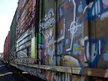 Getaggede keine Eisenbahnwagen 2 Stockbilder