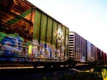 Getaggede keine Eisenbahnwagen 2 Lizenzfreies Stockfoto