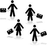 Getaggede Leute Lizenzfreie Stockfotos