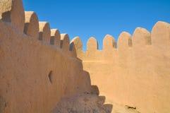 Getande versterkte middeleeuwse stad, voor een achtergrond Stock Afbeeldingen
