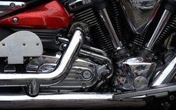 Getankte Maschine des Motorrades Benzin Lizenzfreie Stockfotos