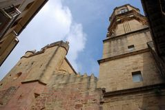 Getaria εκκλησία στοκ φωτογραφία