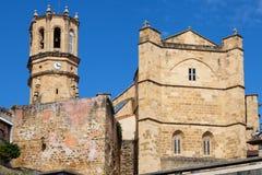 Getaria church stock image