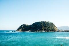 Getaria - Isla de San Anton royalty free stock image