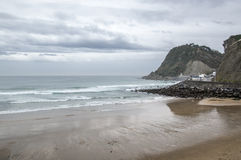 Getaria plaża Fotografia Stock