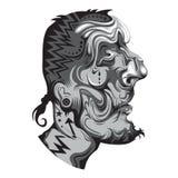 Getatoeeerd inheems persoonsportret vector illustratie