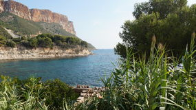 Getaway near Cassis, France. Beautiful hills and sea near Cassis, France Stock Photos