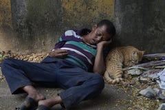 Geteilt durch die Spezies, vereinigt durch Schlaf Lizenzfreies Stockbild