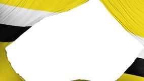 Geteilte Brunei-Flagge lizenzfreie abbildung