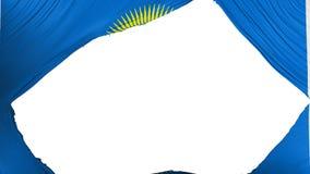 Geteilter Commonwealth der Nationsflagge lizenzfreie abbildung