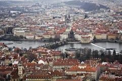 Geteiltes Prag Stockbild